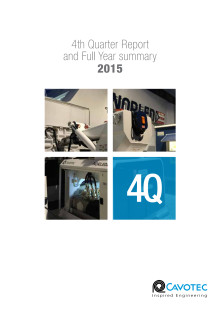 Cavotec 4Q15 Report and full year 2015 summary