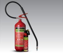 Ny brandsläckare släcker bränder i litiumbatterier