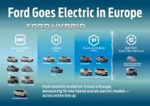Ford annonce un grand utilitaire 100% électrique et le premier minibus 8 places hybride rechargeable