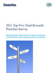Top Five Total Rewards Survey 2011