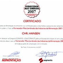 Chr. Hansen 'Top of Mind Color Supplier' in Brazil