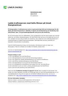 Ladda kraftreserven med Sofia Åhman på Umeå Energicentrum