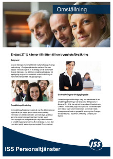 Rapport Omställningsförsäkring 2012