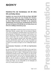 Heimkino-Trio der Extraklasse mit 4K Ultra HD und Dolby Atmos