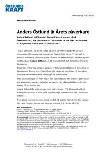Anders Östlund är Årets påverkare