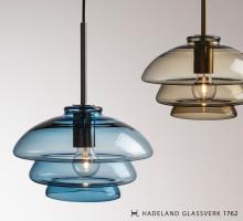 Norske designlamper fra 1900-tallet blir blåst på nytt på Hadeland Glassverk