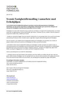 Svensk Fastighetsförmedling i samarbete med Erikshjälpen