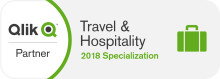 Tahola accredited with Qlik Travel & Hospitality Specialization