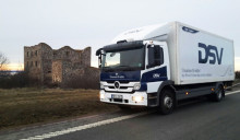 Testing hybrid trucks in Sweden