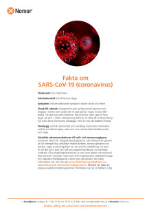 Fakta om SARS-CoV-19 (coronavirus)