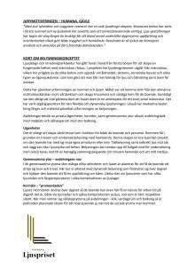 Jurymotiveringen och fakta om belysningskonceptet - Humana Gävle