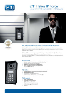 Porttelefoner från Gate Security - 2N Helios IP Force