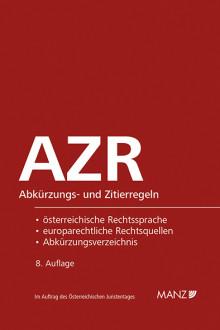 Neu bei MANZ: Abkürzungs- und Zitierregeln für Juristen in 8. Auflage