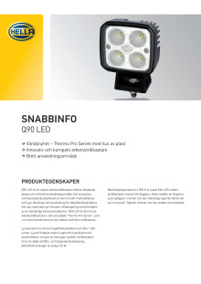 HELLA arbetsstrålkastare Q90 LED