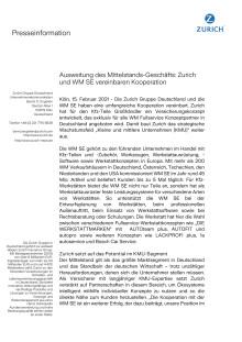 Ausweitung des Mittelstands-Geschäfts: Zurich und WM SE vereinbaren Kooperation