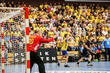 Handbollslandslaget VM-laddar i Halmstad