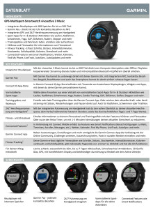 Datenblatt Garmin vívoactive 3 Music