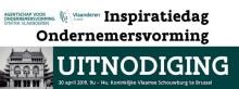 PERSUITNODIGING: Inspiratiedag Ondernemersvorming op 30 april 2019