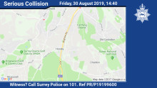 Appeal for witnesses following fatal collision on A23 in Hooley