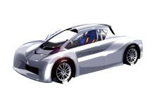 Mitsubishi kör elbil bland molnen