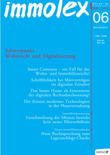 immolex 6/2019: Editorial und Inhaltsverzeichnis