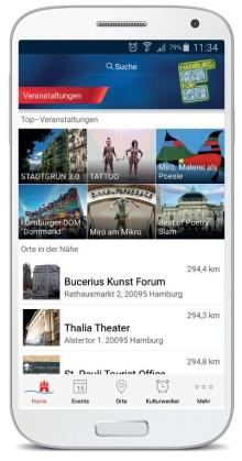 """Konzerte, Märkte, Messen - neue App """"Veranstaltungen Hamburg"""""""