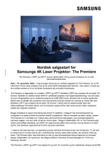 Nordisk salgsstart for  Samsungs 4K Laser Projektor: The Premiere