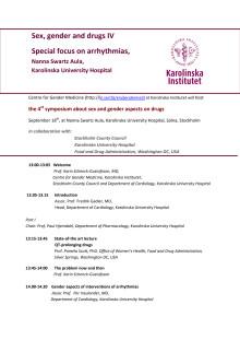 Inbjudan till seminarium om Kön Genus och läkemedel