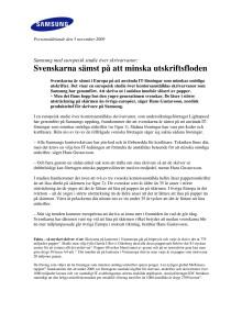 Svenskarna sämst på att minska utskriftsfloden
