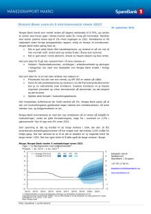 Makrorapport september 2018: Norges Bank hever renten og varsler 5 renteøkninger