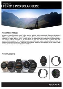Datenblatt fenix 6 Pro Solar-Serie FH
