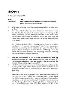Editors Q&A