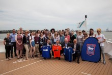 Ipswich Town legend gets to 'Wark on water' once again, aboard Fred. Olsen Cruise Lines' Braemar in Harwich