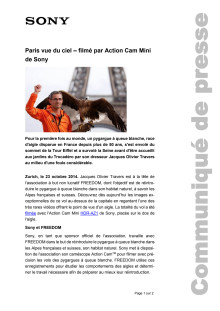 Communication de presse_Action Cam HDR-AZ1VR_Tour Eiffel_F-CH_141022