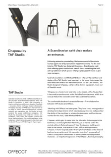 Offecct Press release Chapeau by TAF Studio_EN