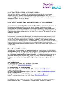 RUAG Space_ Konstruktör till elektrisk antennutveckling