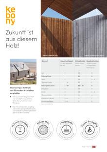 Übersicht Produkte Holzfassaden 2019