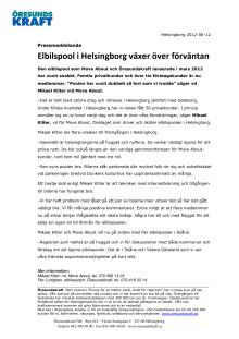 Elbilspool i Helsingborg växer över förväntan