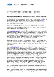 NY FORD TRANSIT – CLASSIC OG BOMSTÆRK