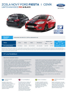 Ceník Ford Fiesta Red and Black Edition