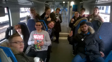 Bedford College students take to Thameslink