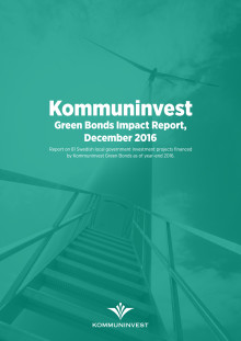 Kommuninvest Green Bonds Impact Report, dec 2017