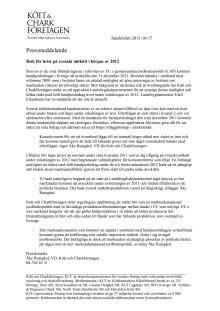 Risk för brist på svenskt nötkött i början av 2012