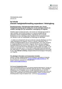Pressmeddelande: Svensk Fastighetsförmedling expanderar i Helsingborg