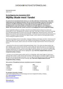 Ny kartläggning över bostadsåret 2019: Mjölby ökade mest i landet