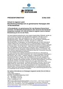 Brandenburg beteiligt sich an gemeinsamer Kampagne aller 16 Bundesländer
