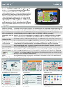 Datenblatt Garmin dēzl 780 LMT-D EU