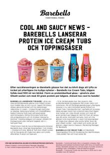 Cool and saucy news – Barebells lanserar Protein Ice Cream Tubs och toppingsåser