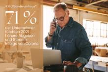 KMU-Sonderumfrage: Unternehmer fürchten 2021 höhere Abgaben und Steuern infolge der Corona Schuldenbelastung