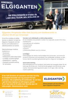 PDF: Elgiganten, Kungsbacka väljer Gate Security som totalleverantör av säkerhet till sitt nya 3.0 koncept